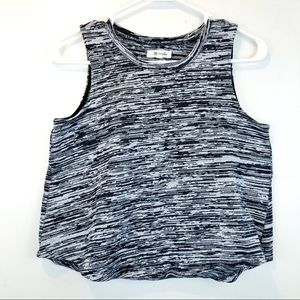 Madewell Marty Space Dye Crop Sleeveless Knit XS